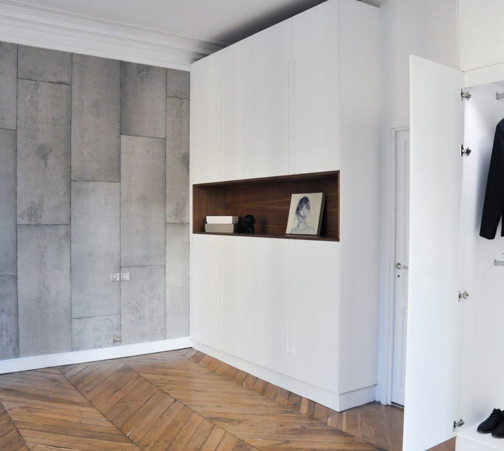 R novation d 39 un appartement rue j p timbaud paris for Renovation appartement design