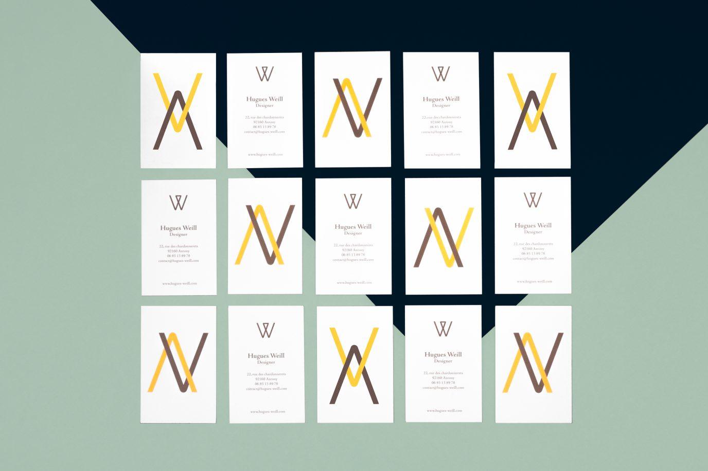 Identité graphique du design d'objets et de mobilier Hugues Weill
