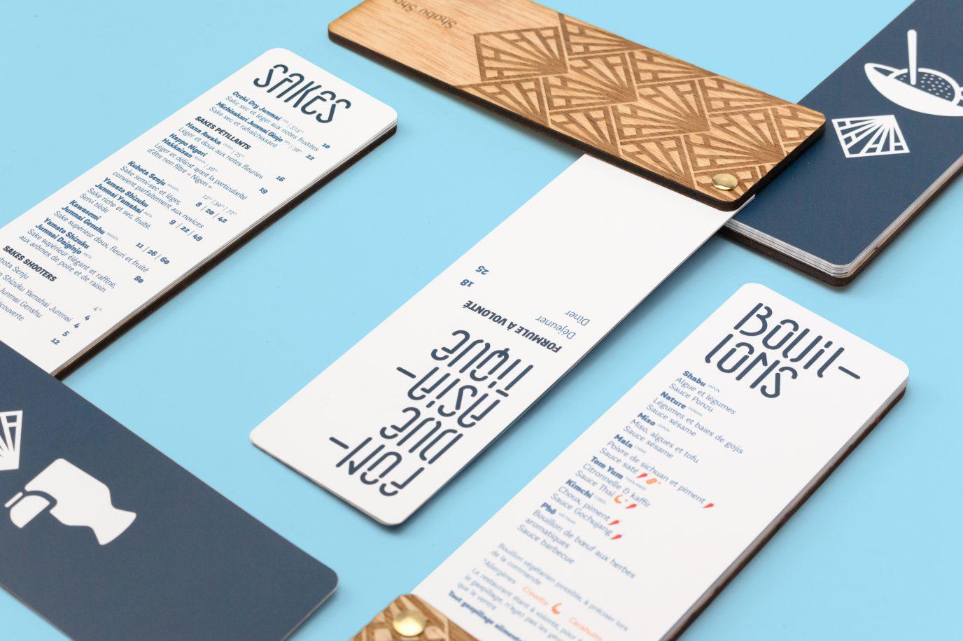 Création de menu pour restaurant.