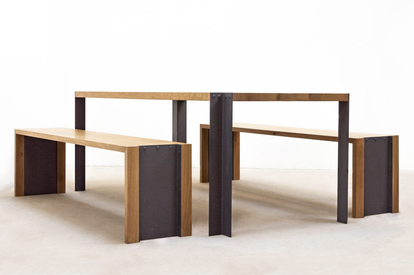 Ensemble table et bancs f lsom studio - Ensemble table et banc ...